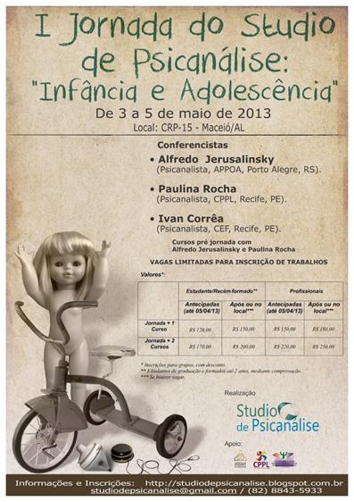 I Jornada do Studio de Psicanálise: Infância e Adolescência (2013)