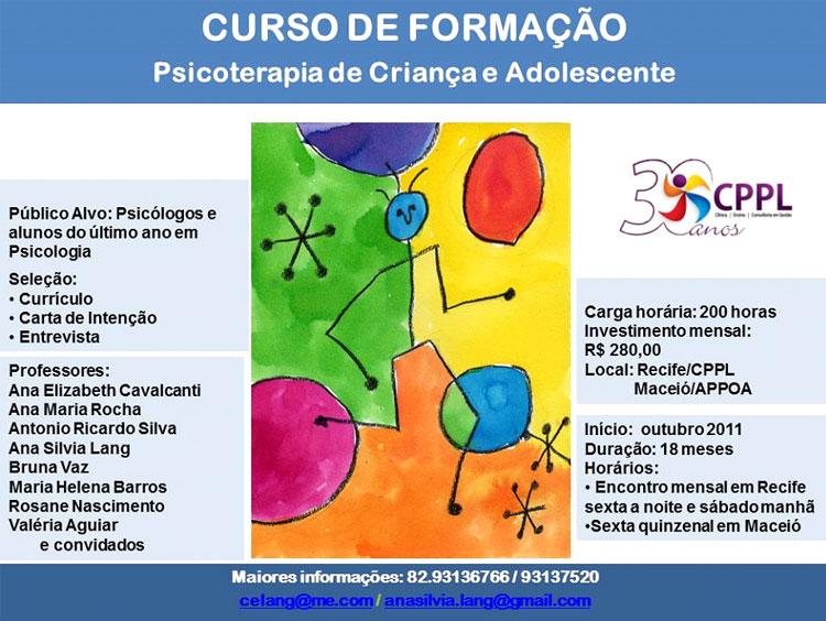 Curso de Formação em Psicoterapia de Criança e Adolescente CPPL (2ª Turma 2013/2014)